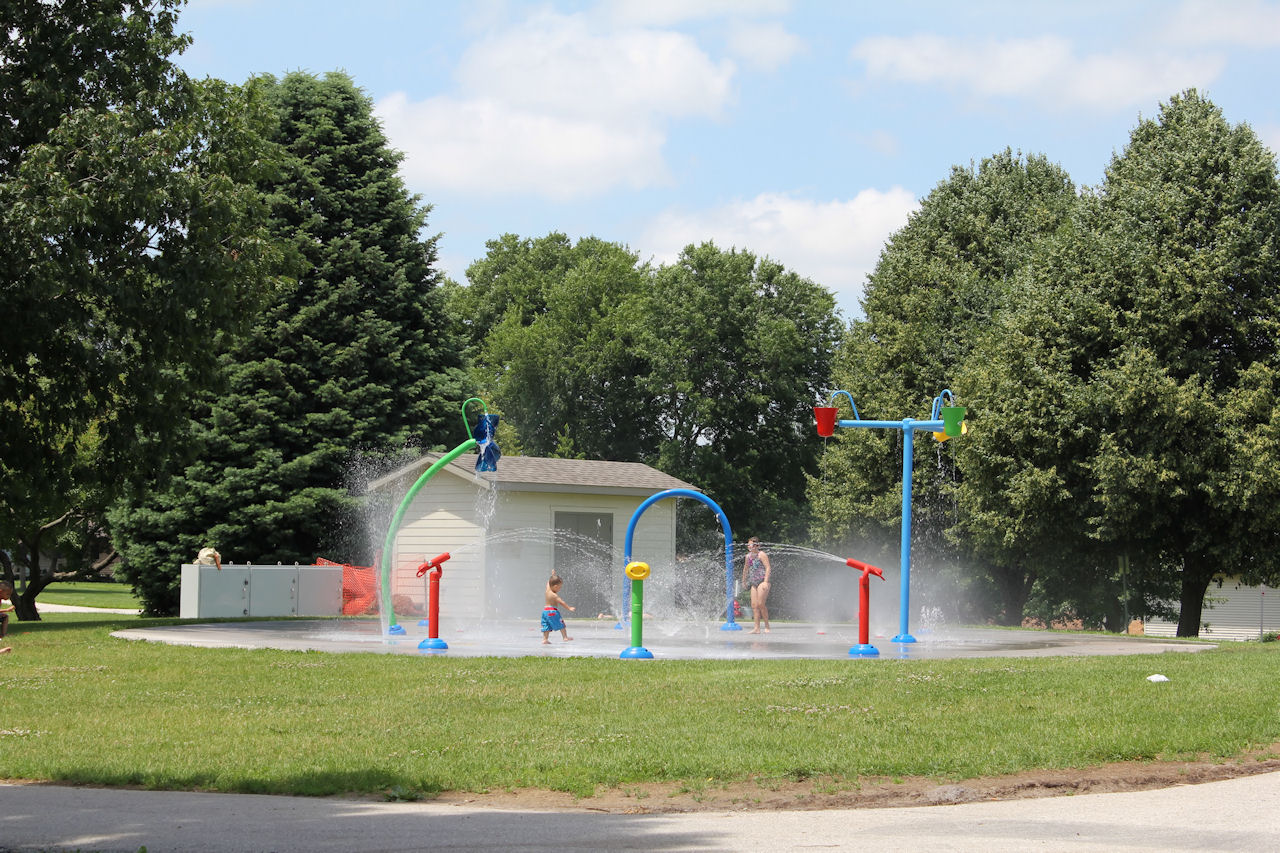New Splash Pad Wetherby Park Iowa City