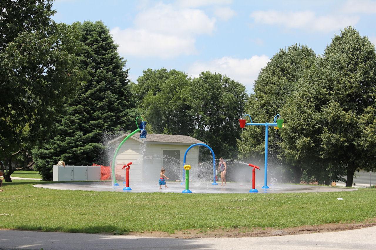 New Splash Pad Wetherby Park Iowa City