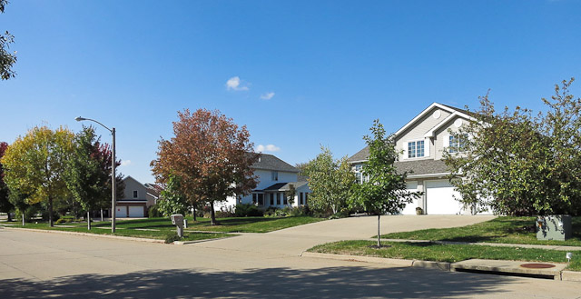 Single family homes in the Galway Hills Subdivision Iowa City