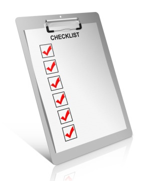 Making a checklist of what's important before buying a home